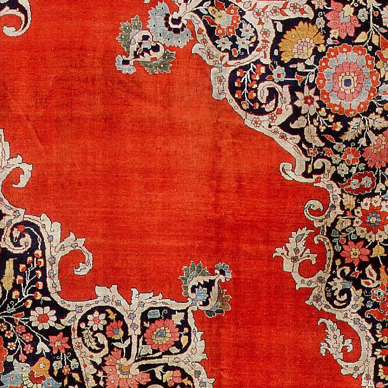 Modern Persian Tabriz Design Rug 44687 Nazmiyal Antique Rugs: Antique Silk Tabriz Persian Rug At 1stdibs
