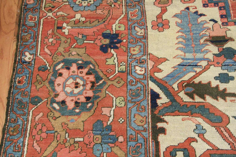 Heriz Carpets Are Among The Most Recognizable Rugs Of Iran Because Their Distinctive Monumental Designs