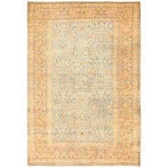 Antique Sky Blue Persian Khorassan Rug