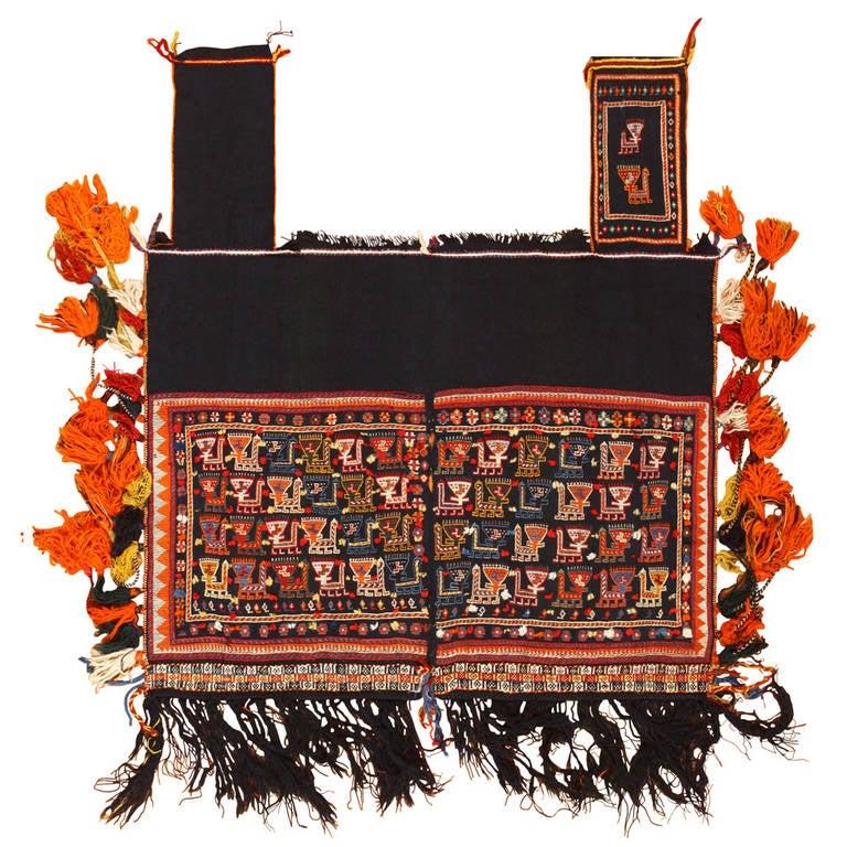 Collectible Antique Persian Qashqai Tribal Horse Cover