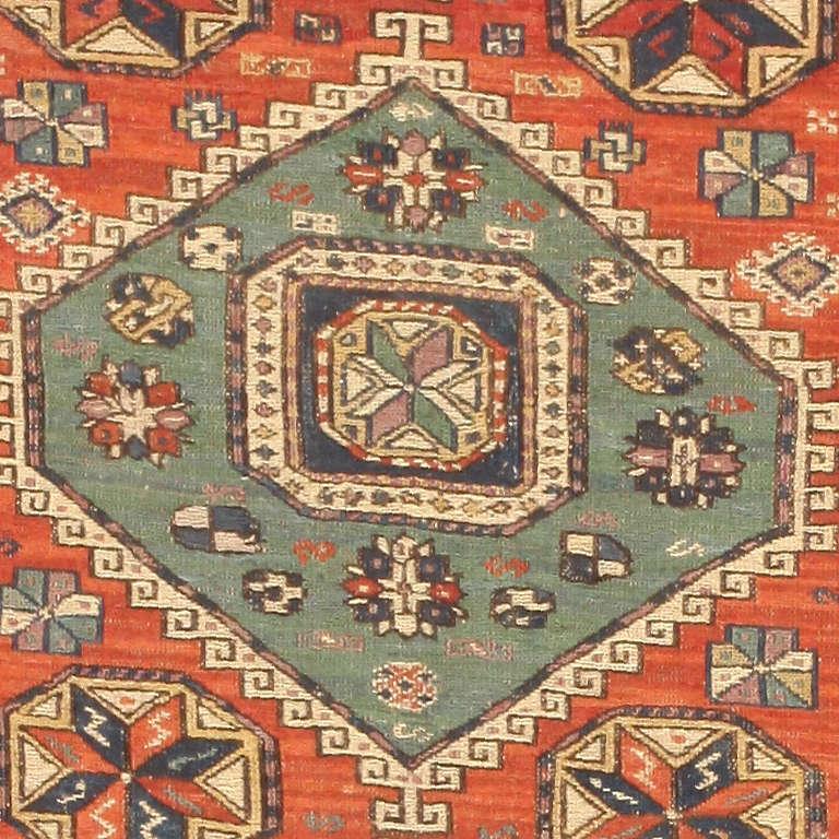 Antique Caucasian Soumak Rug 2