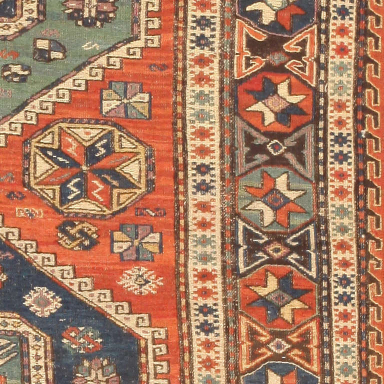 Unknown Antique Caucasian Soumak Rug For