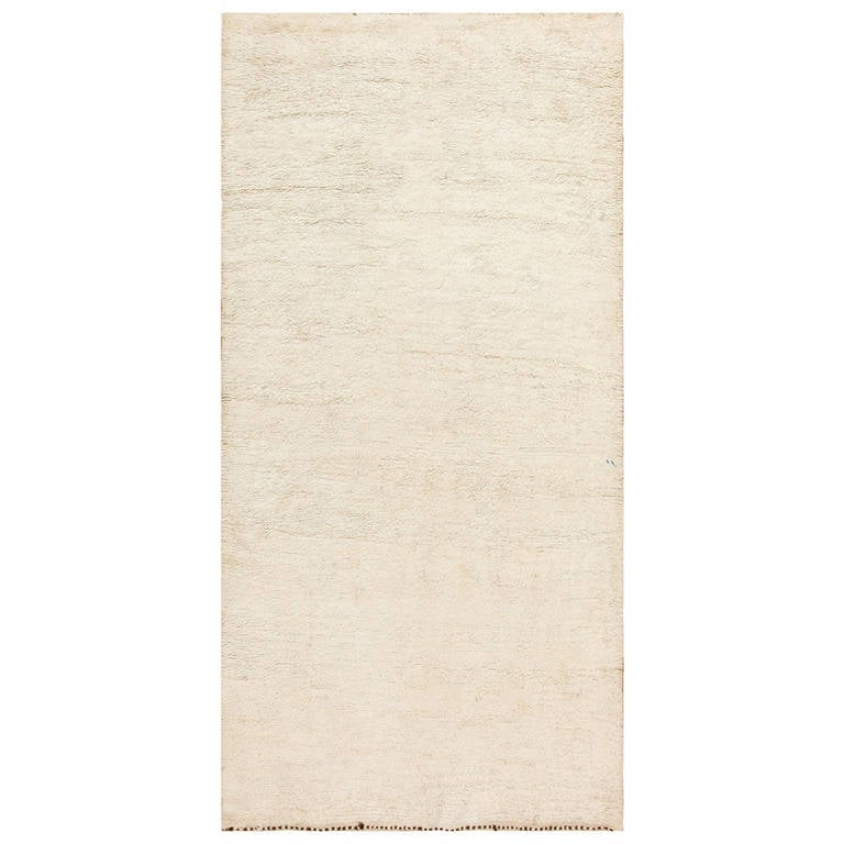 Ivory Moroccan Beni Ourain Rug For Sale