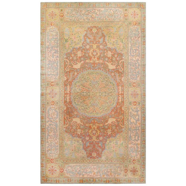 Jerusalem Prayer Rug: Antique Israeli Betzalel Rug At 1stdibs