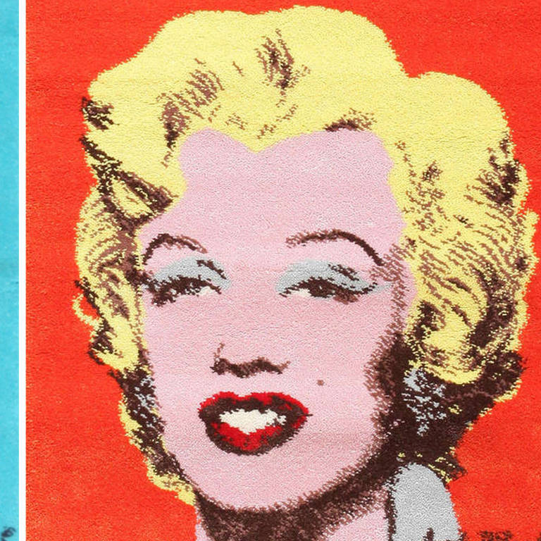 Pair Of Two Ege Art Rugs Of Marilyn Monroe After Andy