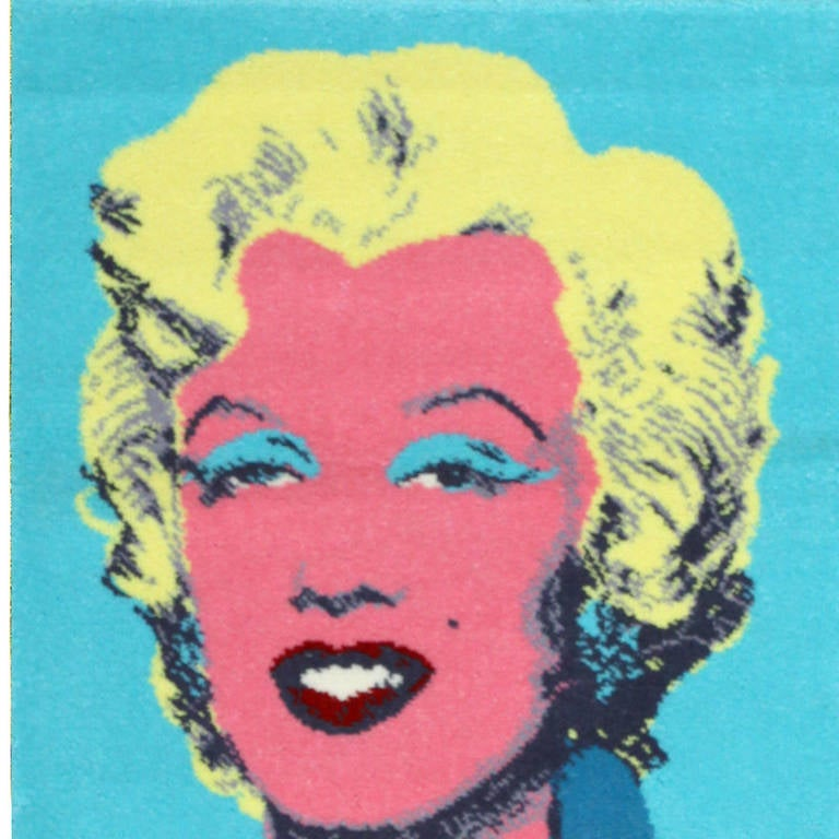 20th Century Pair Of Two Ege Art Rugs Marilyn Monroe After Andy Warhol For