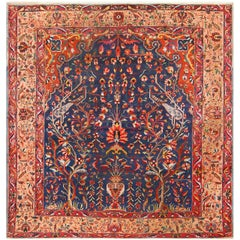 Antique Persian Bakhtiari Tree of Life Rug. Size: 10 ft 6 in x 11 ft