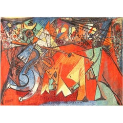 "Ege Art Rug After Pablo Picasso, ""Running of the Bulls"". Size: 8' 2"" x 11' 2"""
