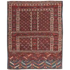 Antique East Turkestan Yamout Rug