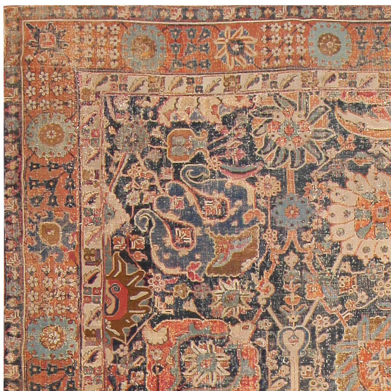 Rare 17th Century Persian Vase Kerman Carpet At 1stdibs