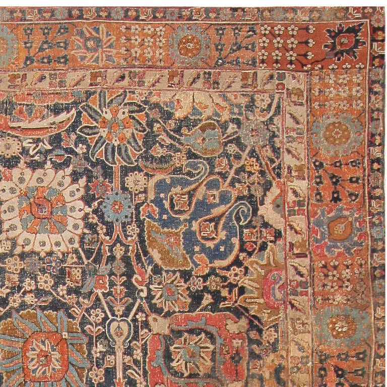 Rare 17th Century Persian Vase Kerman Carpet In Excellent Condition For New York