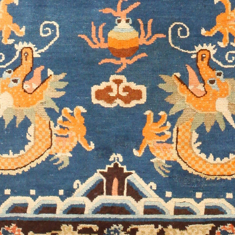 Antique Chinese Rug: Antique Chinese Dragon Rug At 1stdibs