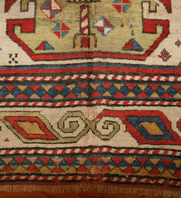 Antique Caucasian Tribal Kazak Rug Or Carpet For Sale At