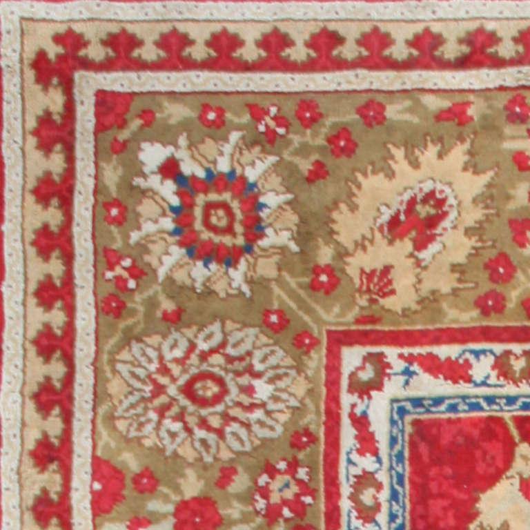 antique arts and crafts donegal irish rug for sale at 1stdibs. Black Bedroom Furniture Sets. Home Design Ideas