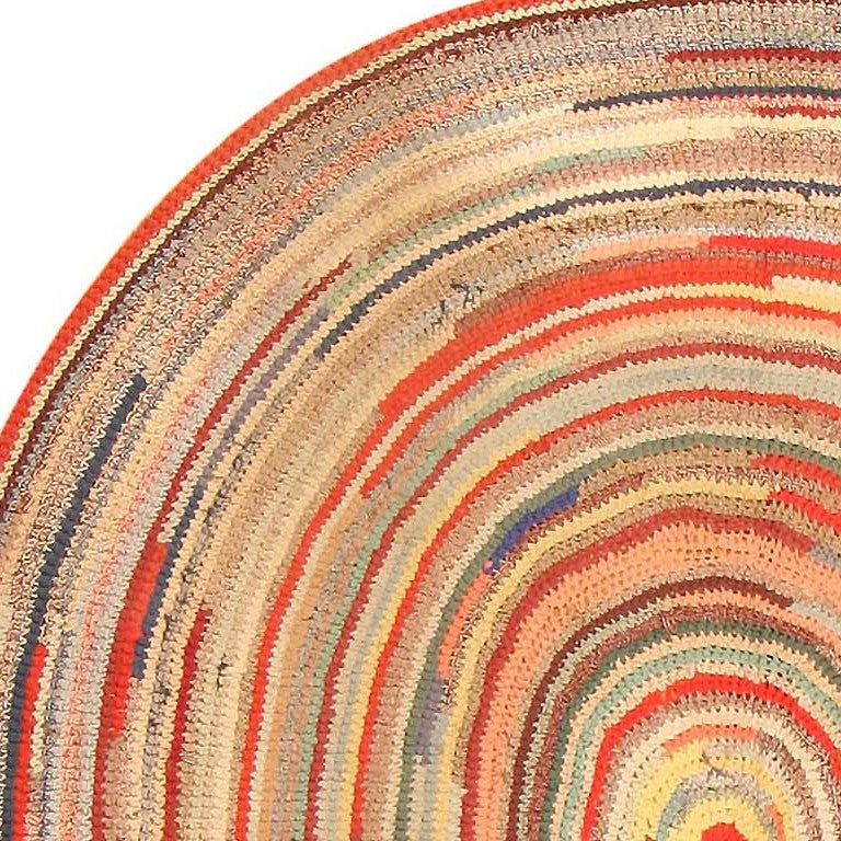 Antique American Braided Rag Rug For Sale At 1stdibs