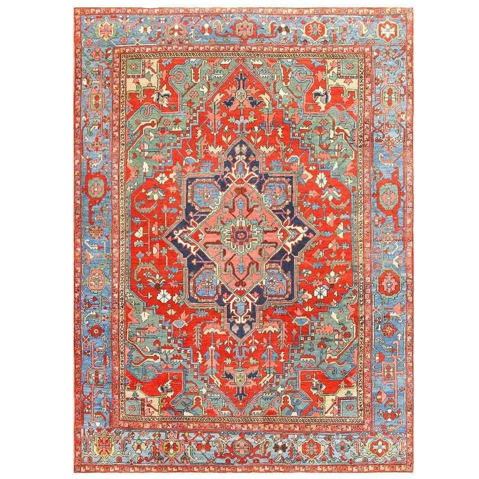 Persian Rugs For Sale: Antique Persian Heriz Serapi Rug At 1stdibs