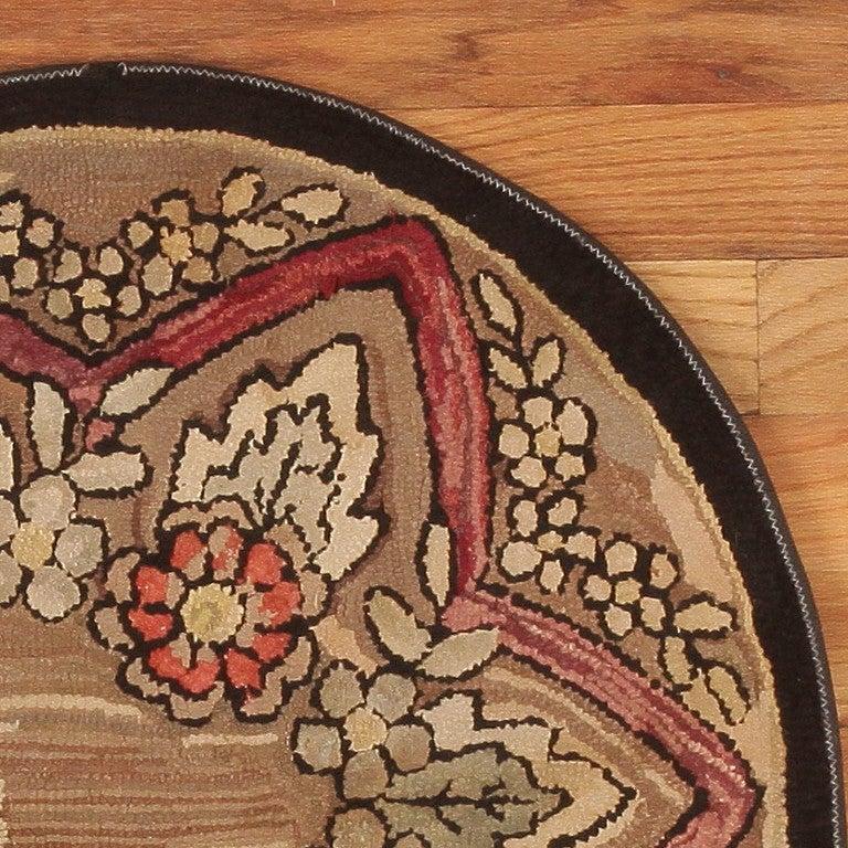20th Century American Hooked Rug, Americana Folk Art For Sale