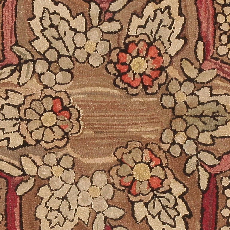 American Hooked Rug, Americana Folk Art In Good Condition For Sale In New York, NY