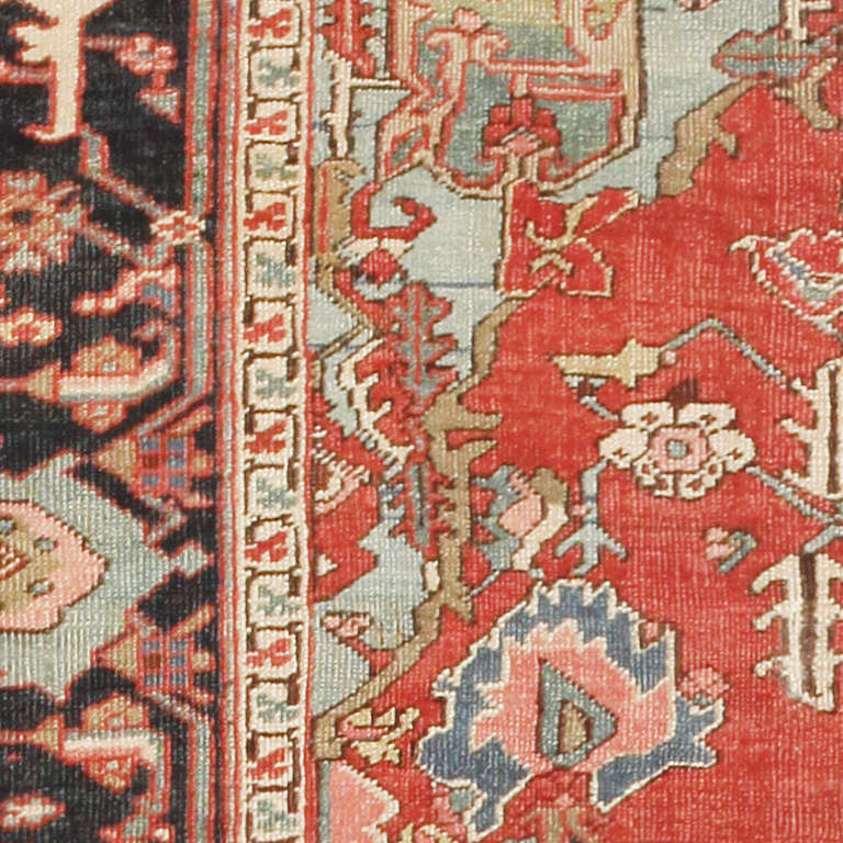 Antique Heriz Serapi Persian Rug At 1stdibs