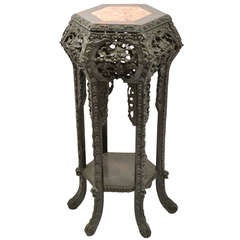 Boxed Marble Top Japanese Stand