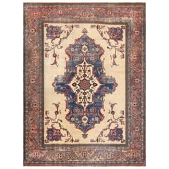 "Antique ""Shabby Chic"" Persian Khorassan Rug"