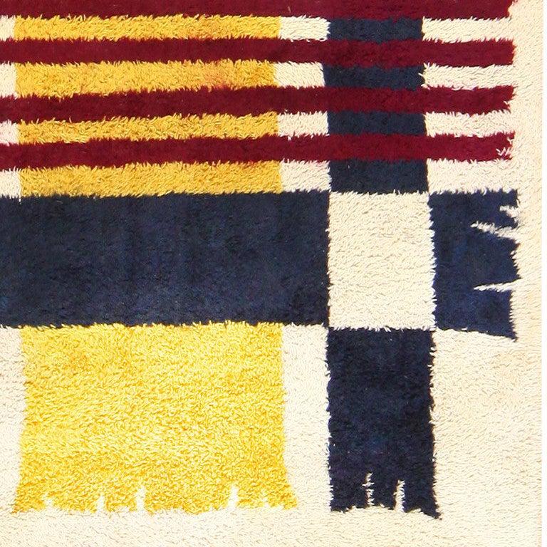 Vintage Scandinavian Rya Rug For Sale At 1stdibs