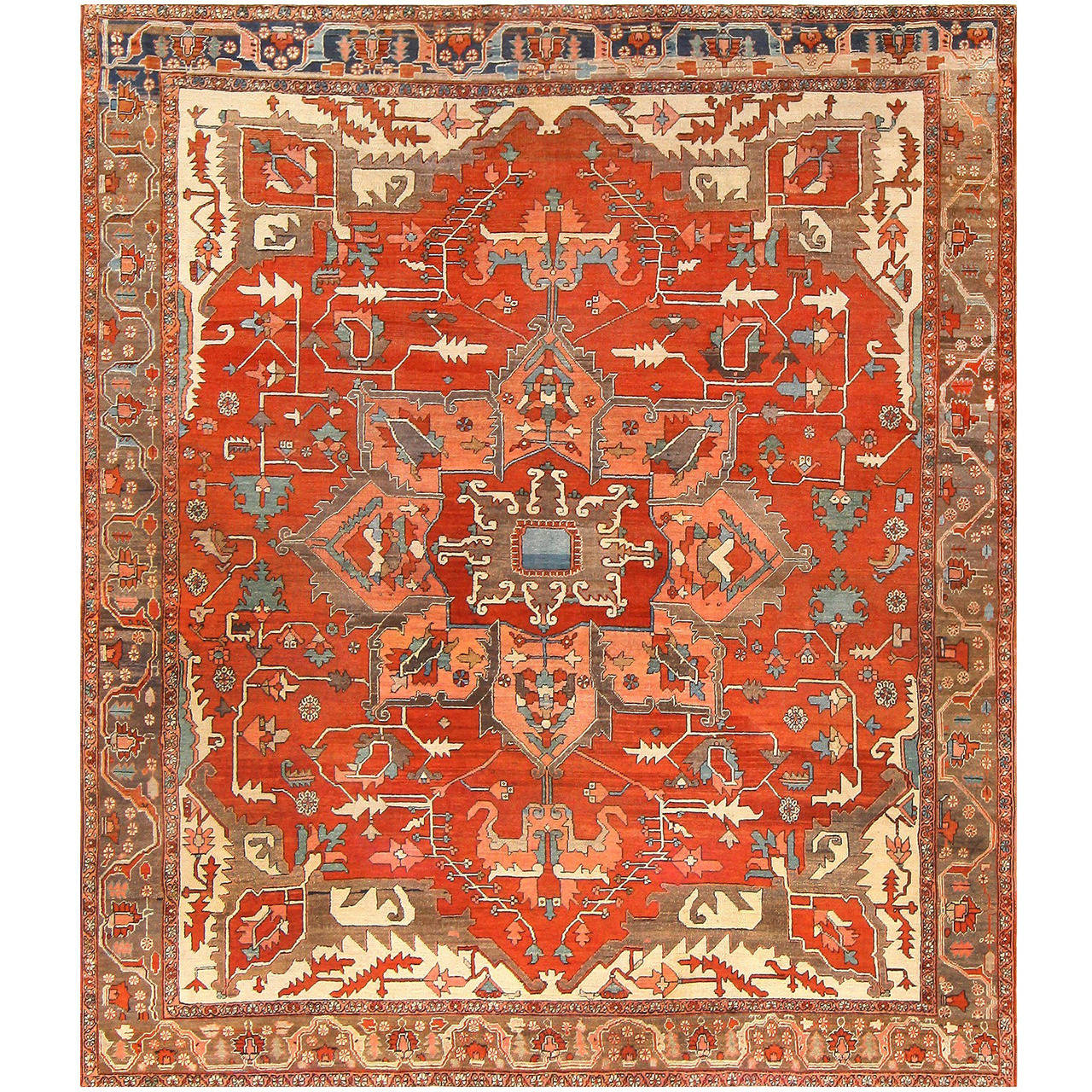Antique Persian Heriz Serapi Rug At 1stdibs