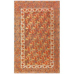 "Antique Persian Afshar ""Shabby Chic"" Rug"