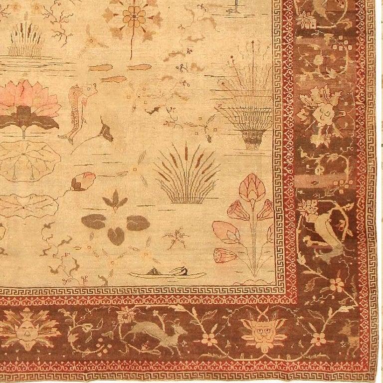 Antique Indian Amritsar Oriental Rug Or Carpet For Sale At
