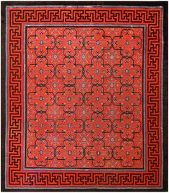 Early 18th Century Antique Chinese Geometric Rug