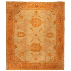 Antique Oushak or Ushak Turkish Rug