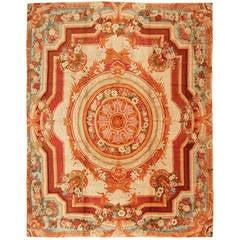 Antique English Axminster Rug or Carpet