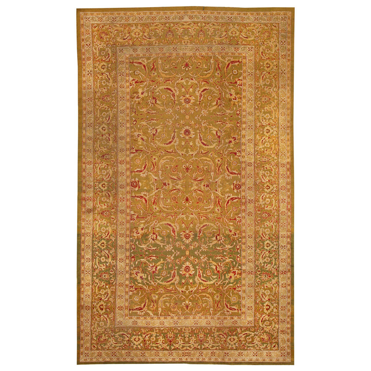 Rugs Made In India For Sale: Antique Amritsar Rug From North India For Sale At 1stdibs