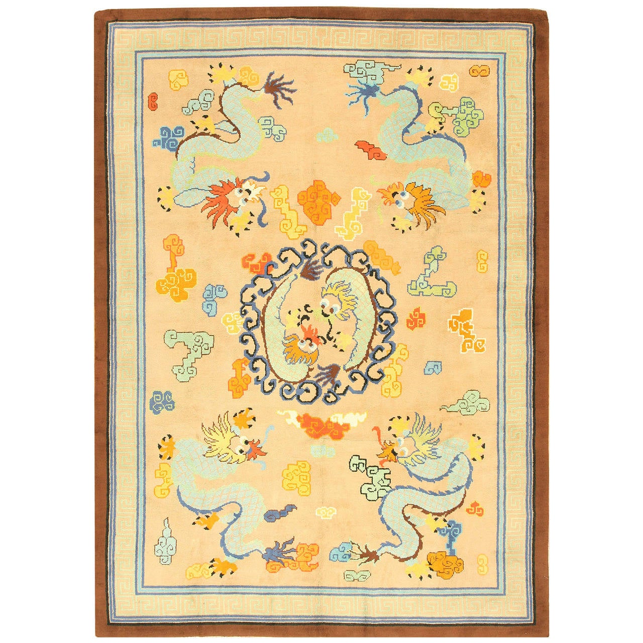 Antique french art deco rug at 1stdibs for Deco rugs carpet