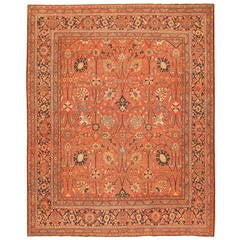 Antique Tabriz Persian Carpet, Early 20th Century