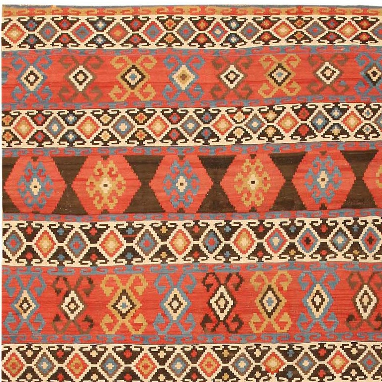 Antique Kilim Caucasian Carpet At 1stdibs