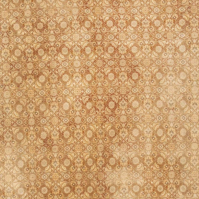 Hand-Woven Shabby Chic Antique Tabriz Persian Rug For Sale