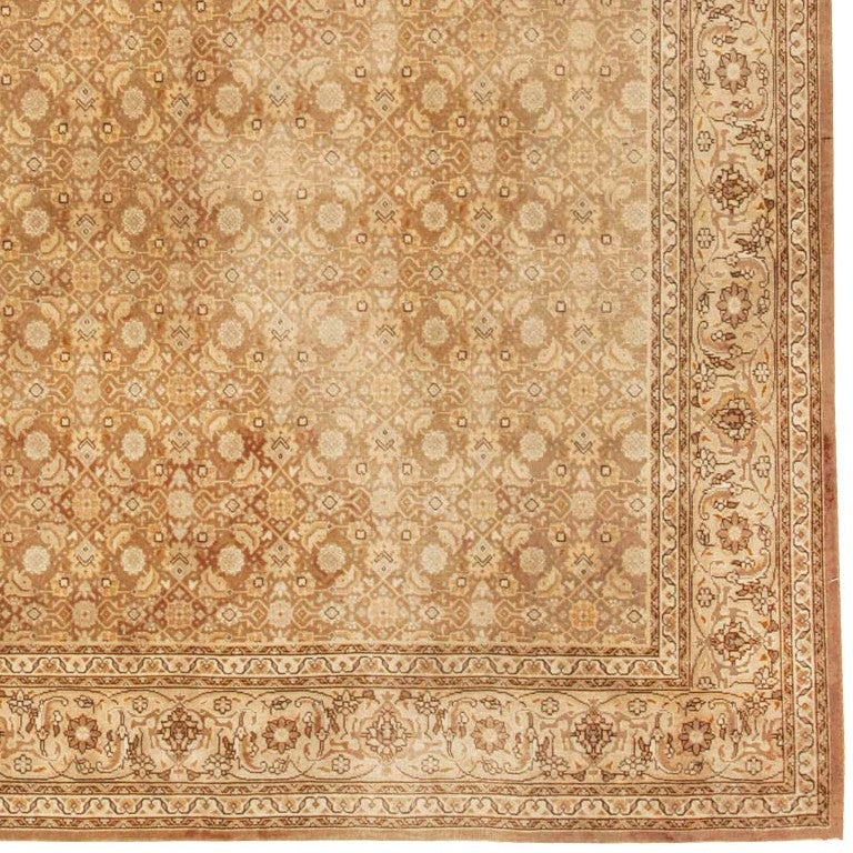 Shabby Chic Antique Tabriz Persian Rug In Excellent Condition For Sale In New York, NY