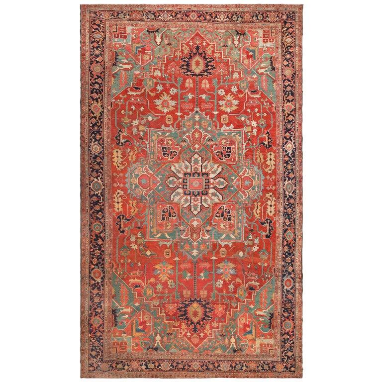 Antique Persian Heriz Rug Bb2402: XXX_antiquepersianherizserapicarpet46562nazmiyal.jpg
