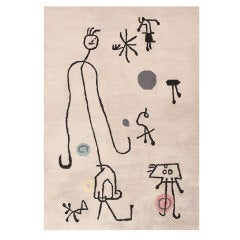 Art Deco Rug Inspired by Joan Miro