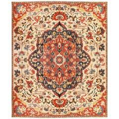 Antique Persian Sarouk Farahan Carpet