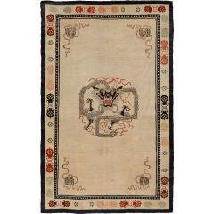 Antique Tibetan Dragon Rug