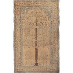 Oversized Antique Khorassan Persian Tree Of Life Rug
