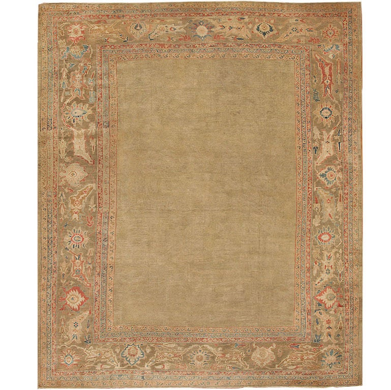 Antique Sultanabad Carpet by Ziegler & Co