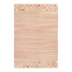 Vintage Scandinavian Flat Art Deco Carpet
