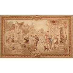Antique French Tapestry by Aubusson