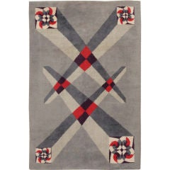 Vintage French Art Deco Carpet Designed by Pierre Cardin
