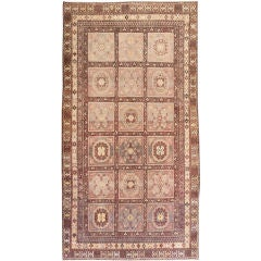 Oriental Garden Design Antique Khotan Rug
