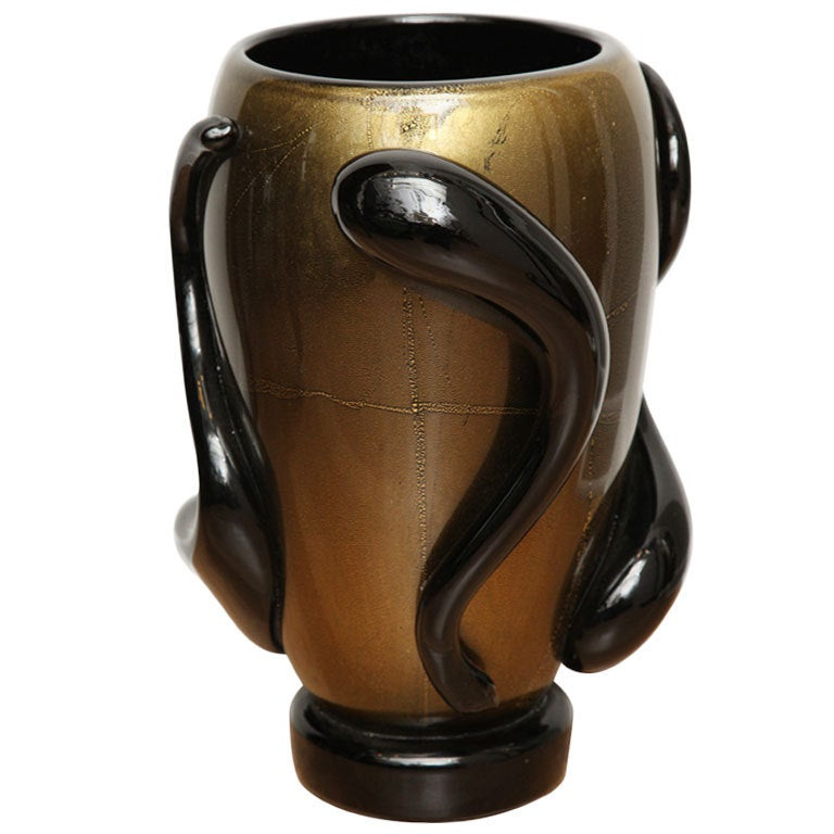 grand murano glass vase at 1stdibs. Black Bedroom Furniture Sets. Home Design Ideas