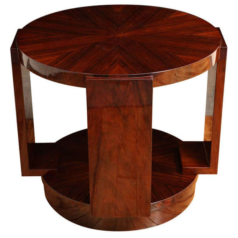 Art Deco Round Side Table At 1stdibs